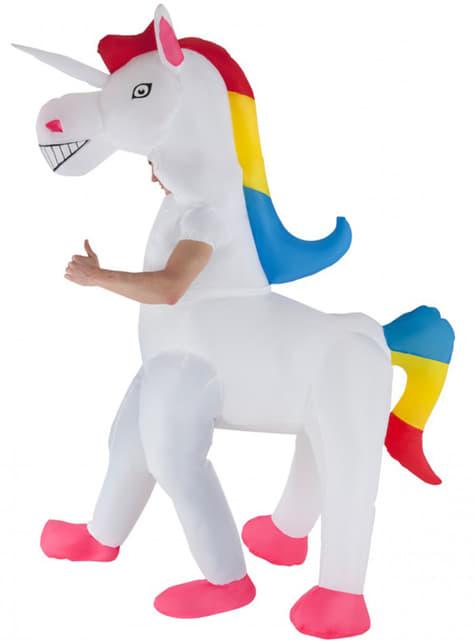 Disfraz de unicornio hinchable para adulto - original