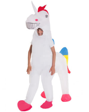 Oppusteligt enhjørning kostume til børn