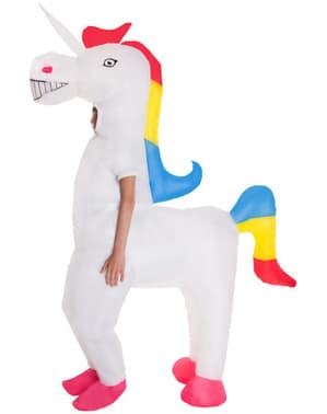 Oppblåsbar enhjørning kostyme til barn