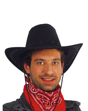 Chapéu preto de cowboy