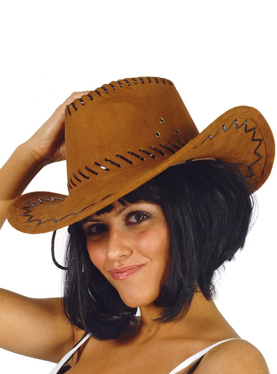 7a278e6a6b136 Chapéu de cowboy castanho pele. Os mais divertidos