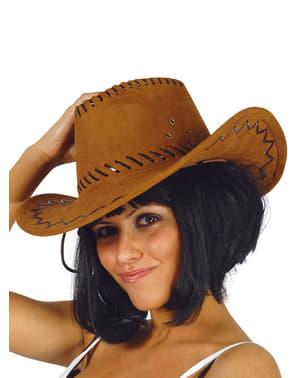 Chapéu castanho de cowboy