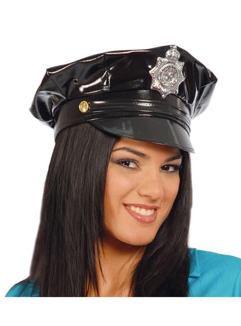 Chapeau de policier en vinyle
