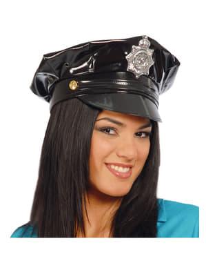 Gorra de policía de vinilo
