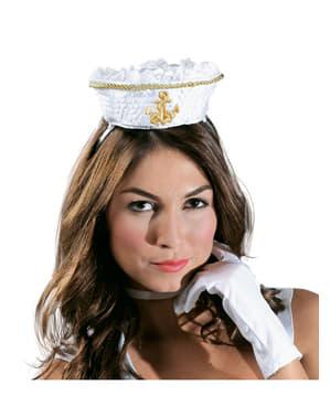 Mini czapka kobiety marynarz