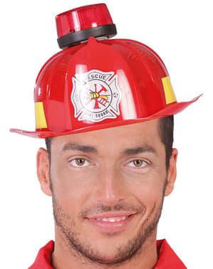 Casque de pompier avec sirène et lumière