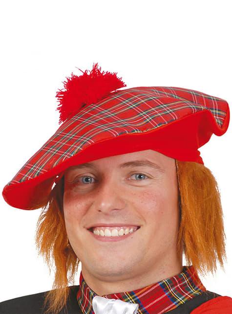 Chapeau écossais avec cheveux
