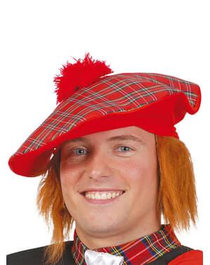 Chapéu escocês com cabelo