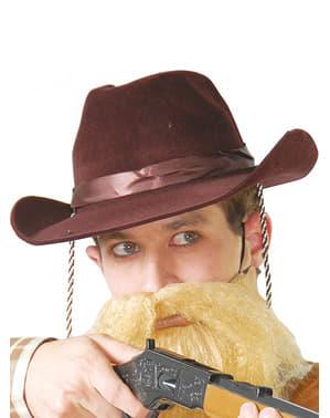 Коричнева ковбойська капелюх
