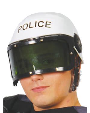 Casco de policía cubierto