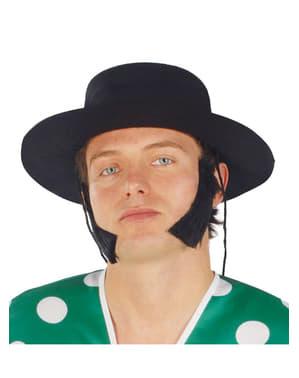 Czarny kapelusz kordobeski