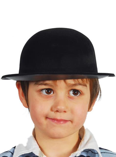 Chapeau melon noir enfant