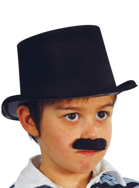 Høj hat sort til små børn