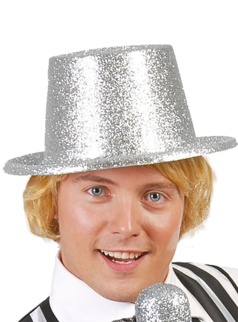 Frosted Silver Top Hat