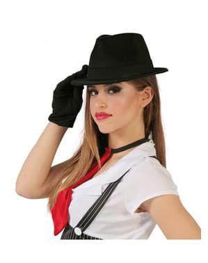 Sombrero de Al Capone negro