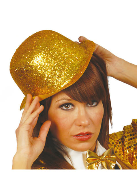 Frosted Gold Bowler Hat