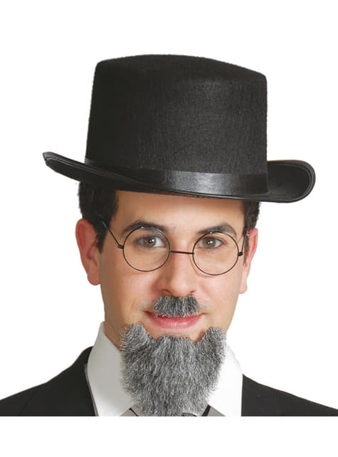 Chapeau haut-de-forme en feutre noir