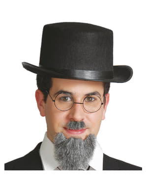 Sombrero chistera de fieltro negro