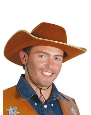 Chapéu cowboy castanho
