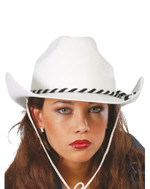 Chapeau dallas blanc