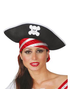Chapéu de pirata dos mares