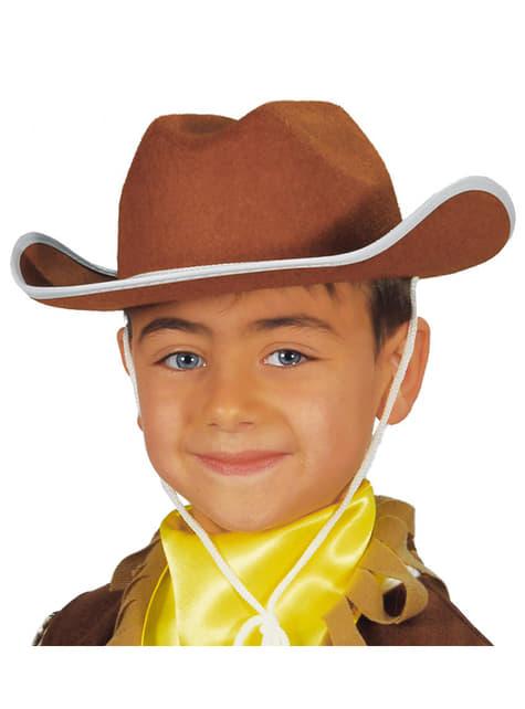 Chapéu cowboy infantil castanho