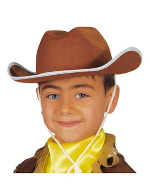 Chapeau cowboy enfant marron
