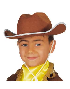 Pălărie cowboy pentru copii maro