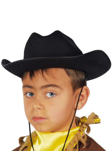 Pălărie cowboy neagră pentru copii