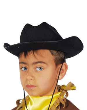 Sort cowboyhat til børn