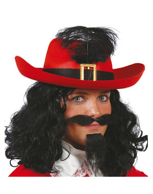 Chapéu de mosqueteiro vermelho