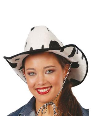 Kovbojský klobouk s efektem kravské kůže