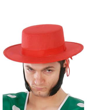 Spansk hat i rød filt