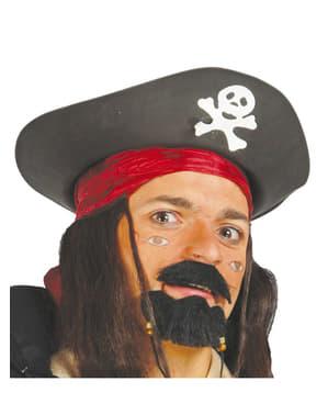 Schwarzer Piraten Hut
