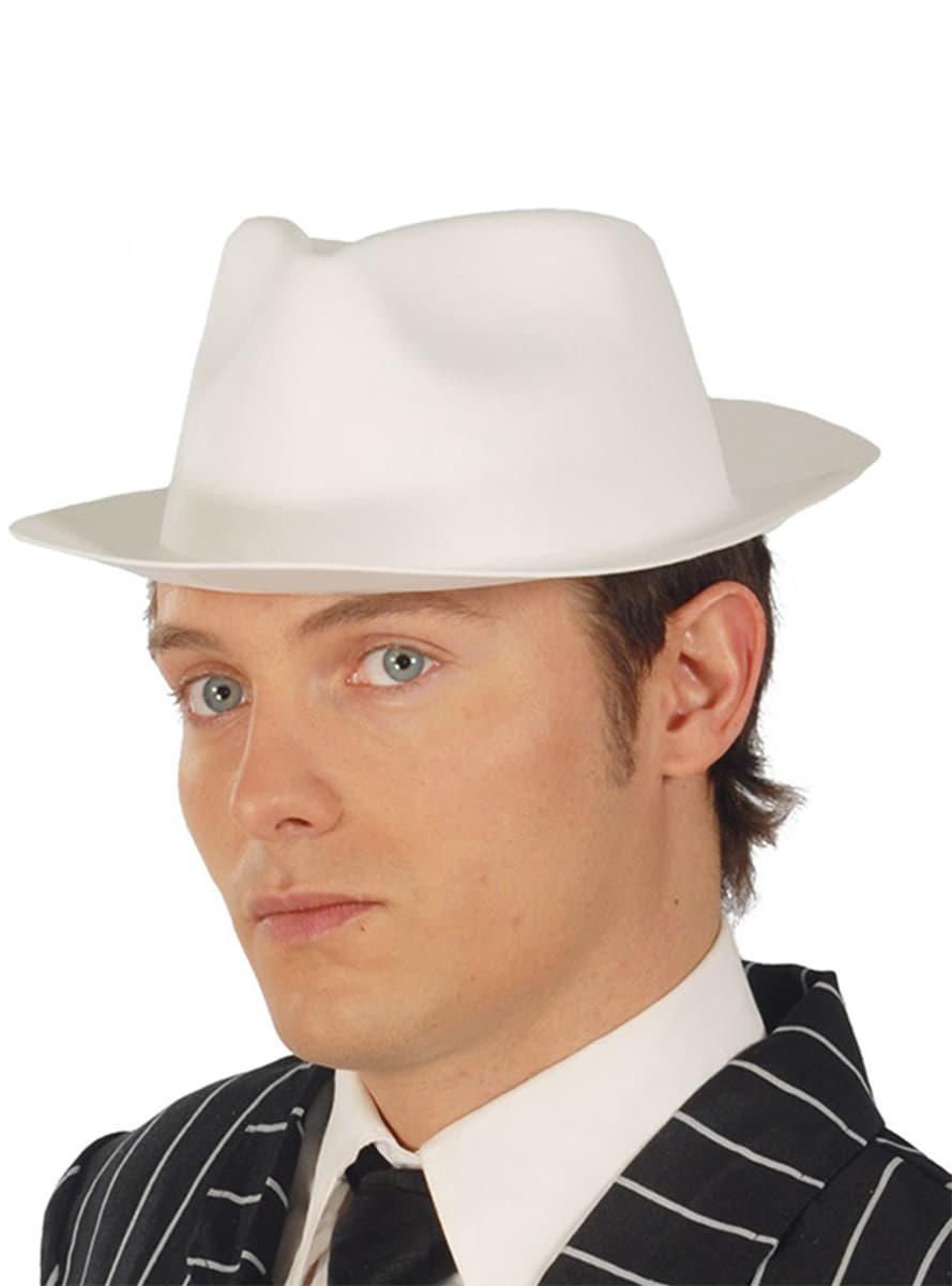 Cappello da gangster in lattice bianco. I più divertenti  c17d65b712a0