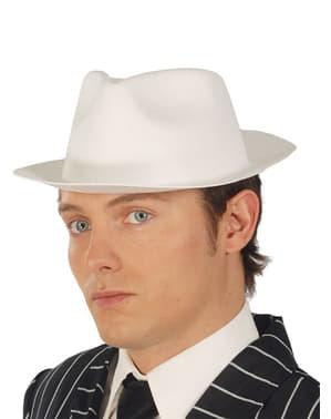Chapéu de gangster em látex branco