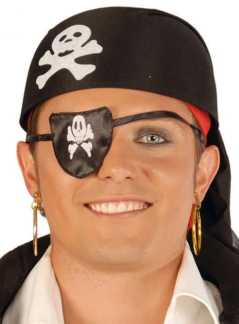 Kapelusz pirata z tkaniny czarny