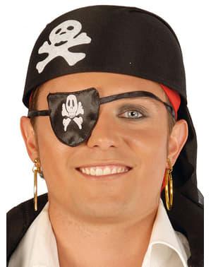Zwarte stoffen piraat hoed