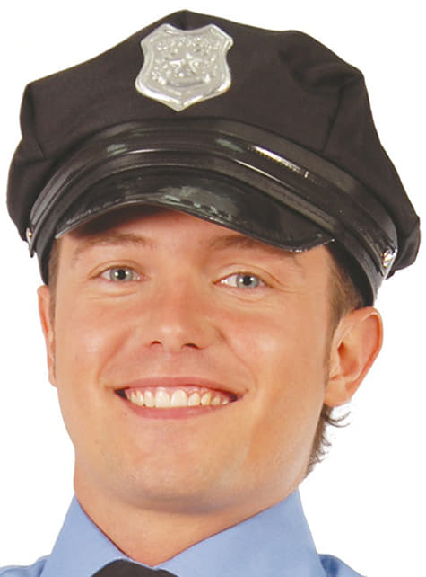 Gorra de policía con visera