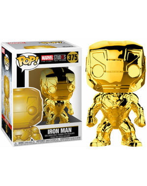 Funko POP! Iron Man Gold Chrome - Studio's 10th Anniversary