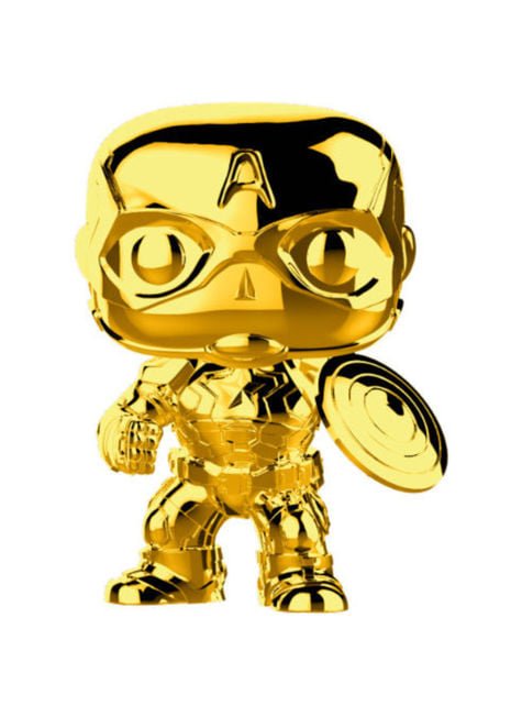 Funko POP! Capitan America Gold Chrome - Studio's 10th Anniversary