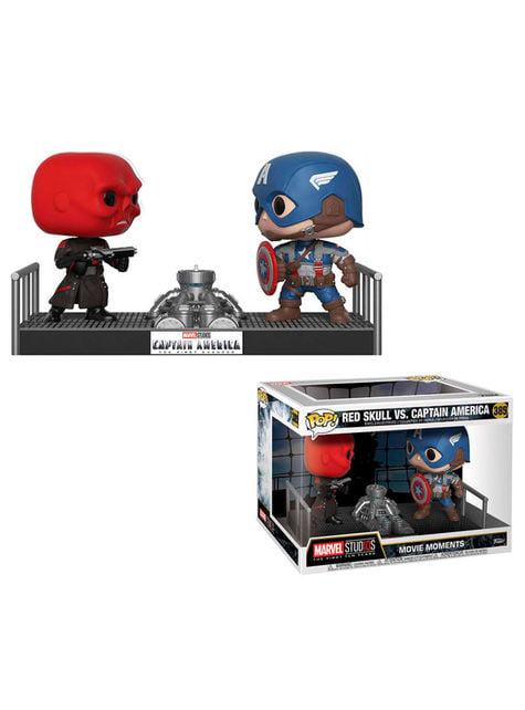 Funko POP! Capitán América vs Cráneo Rojo