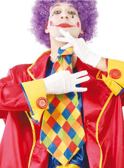 Cravate de clown à losanges