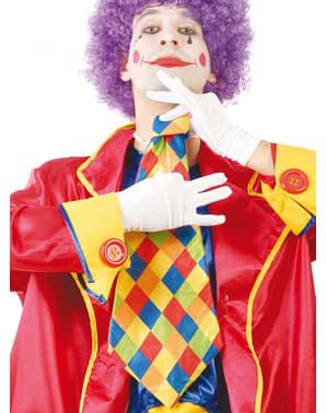Geruite clown stropdas