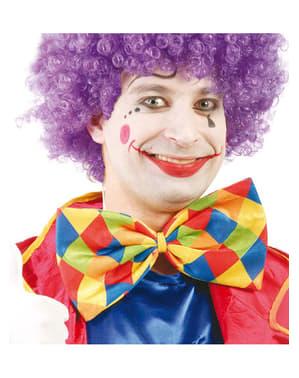 Vlinderstrik clown met ruiten