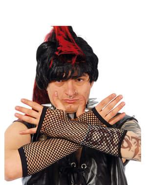 Netz Handschuhe in Schwarz