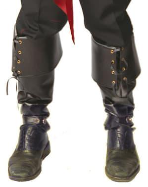 Návleky na nohy černé deluxe
