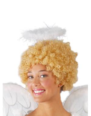Ангел с лента за глава с пера