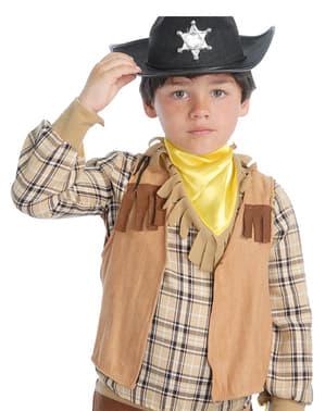 Colete de cowboy infantil