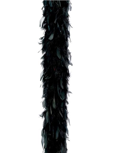 Boa à plumes noires